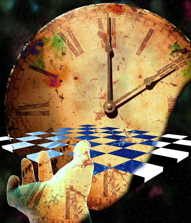 6003347 - checkerboard time composition