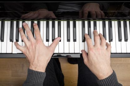 15335940 - an image of a piano playing background